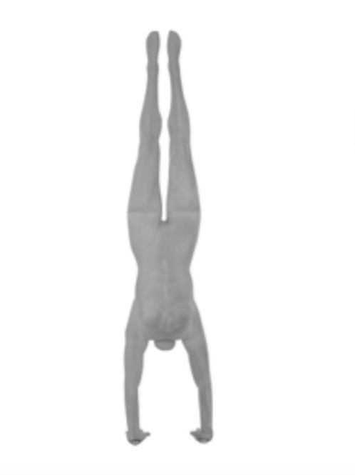 Womens Handstand No.3 Grey Sanded