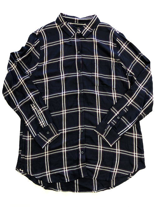 Double Windowpane Button Up