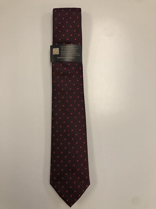Burgundy Dots Tie