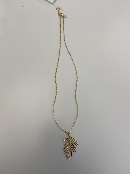 Necklace - Gold Thin Leaf