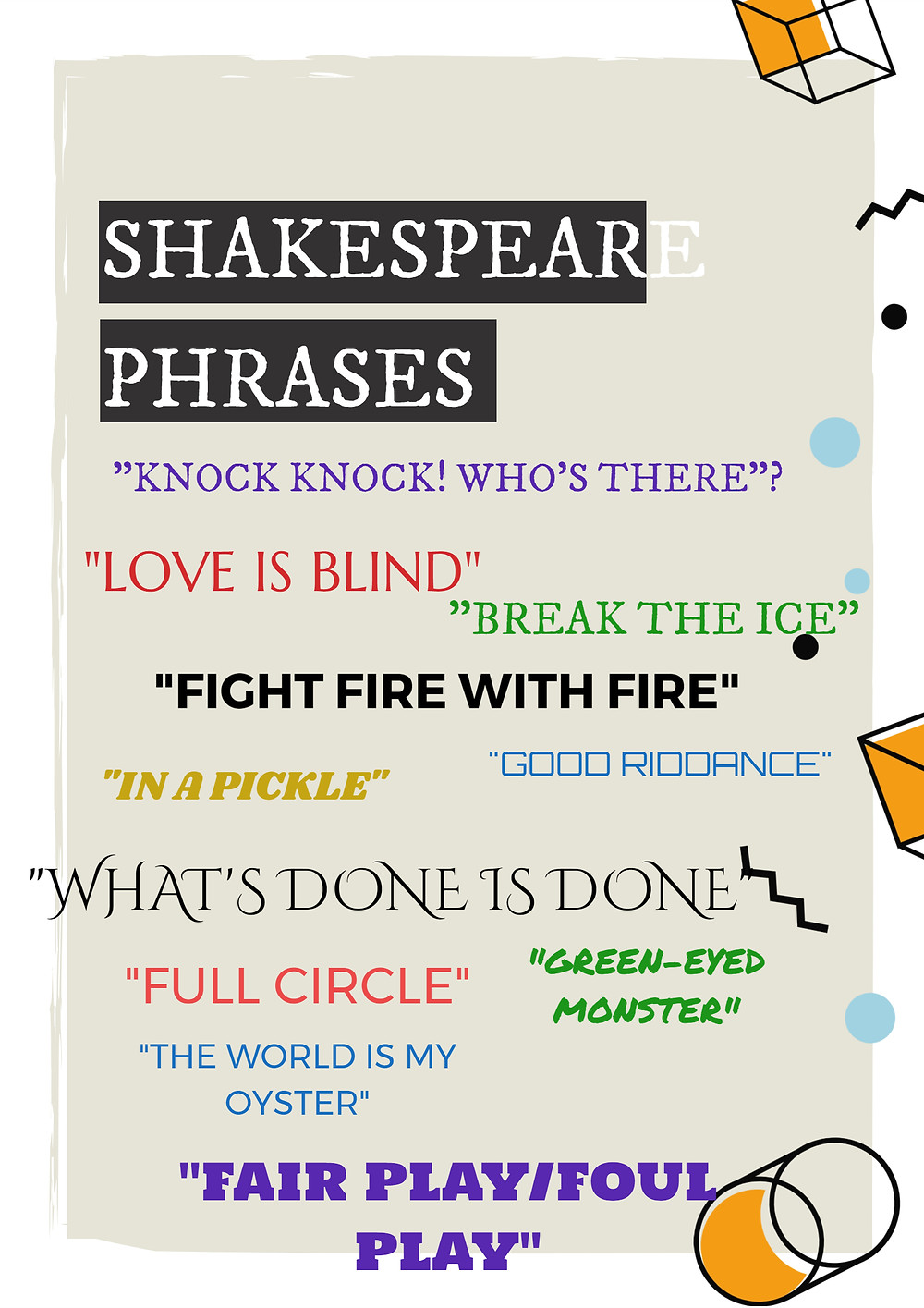 11 Phrases We Owe To Shakespeare