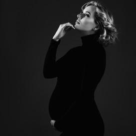 zwangerschaps shoot zwart/wit