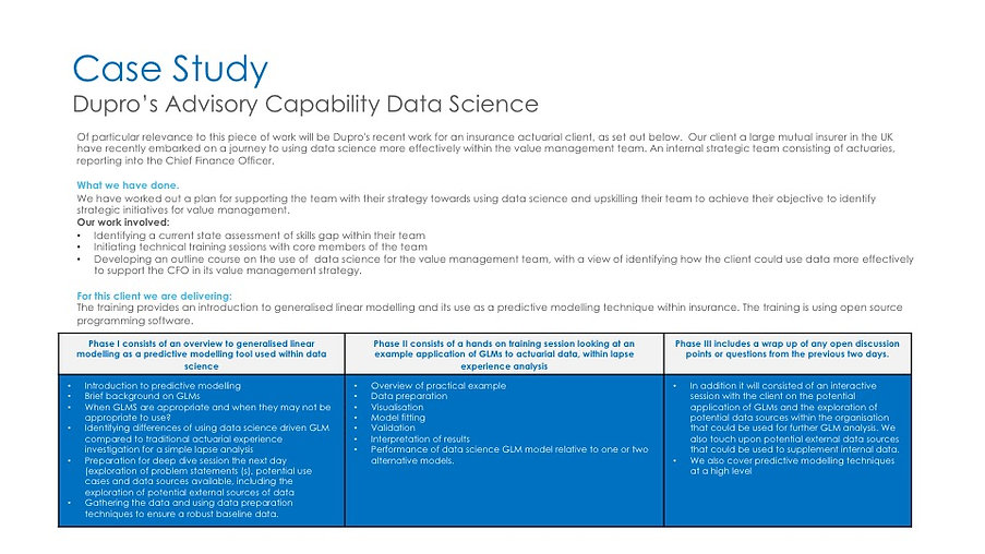 Case Study Dupro Capability Data Science