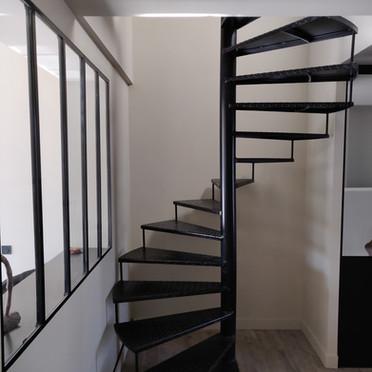 Escalier colimasson en fer