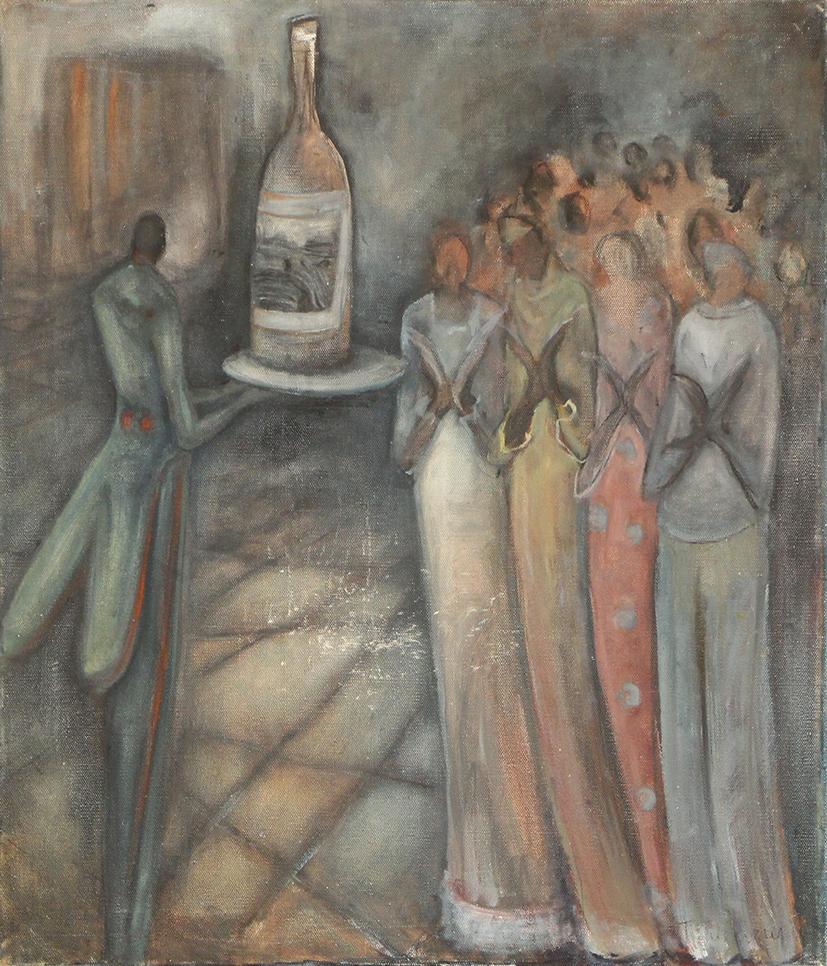 Natasha Turovsky Applause oil on canvas 24_ x 18_