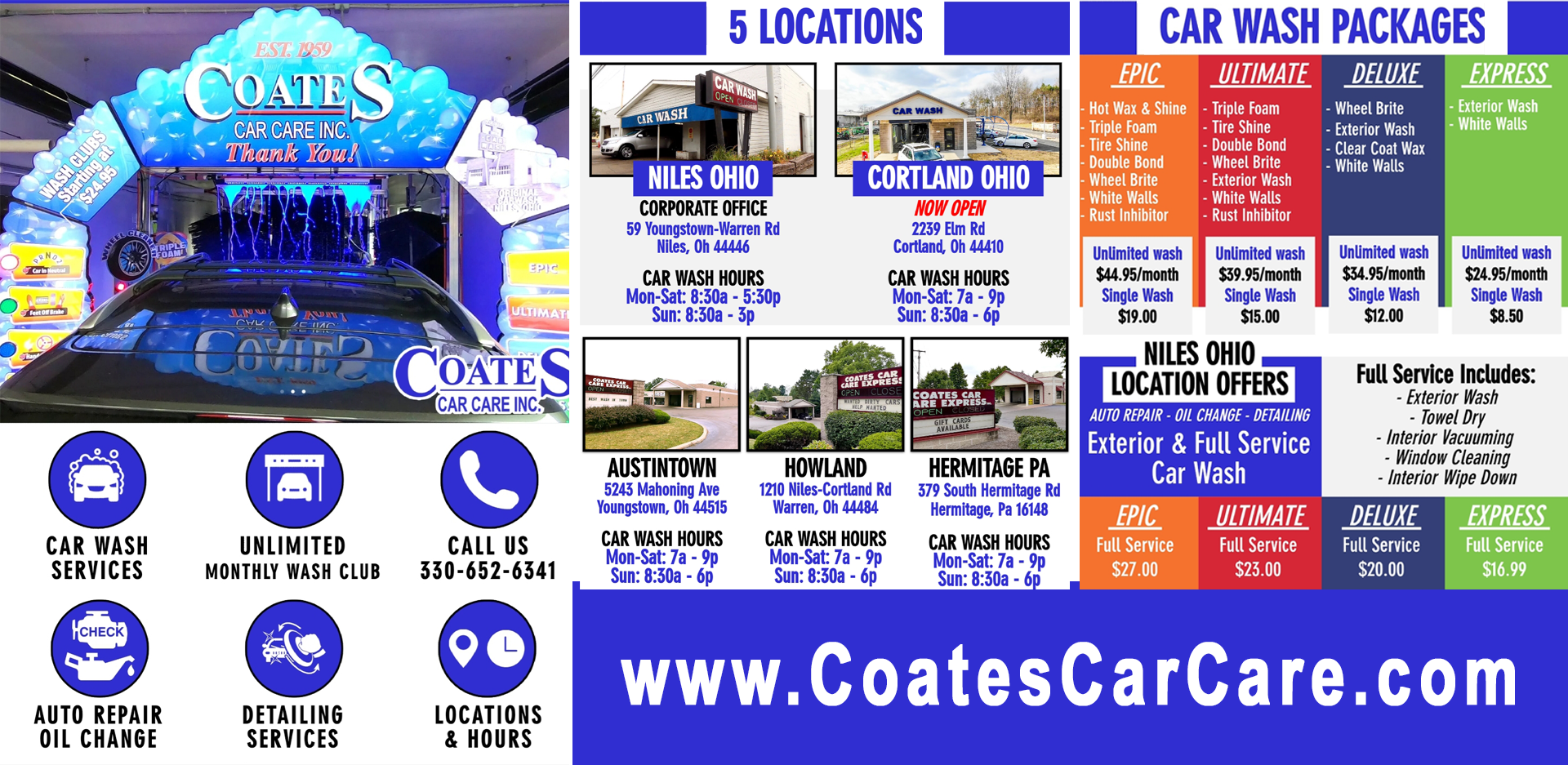 Coates Car Care Inc Car Wash Auto Repair Detailing