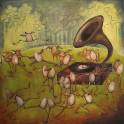 Natasha Turovsky Ballet of the unhatched chicks Oil on Canvas 36_ x 36_