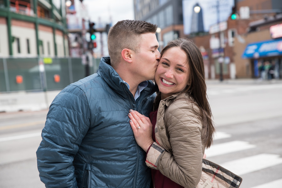 Jessica M. Photography Engagement Photographer Wrigley Field Chicago