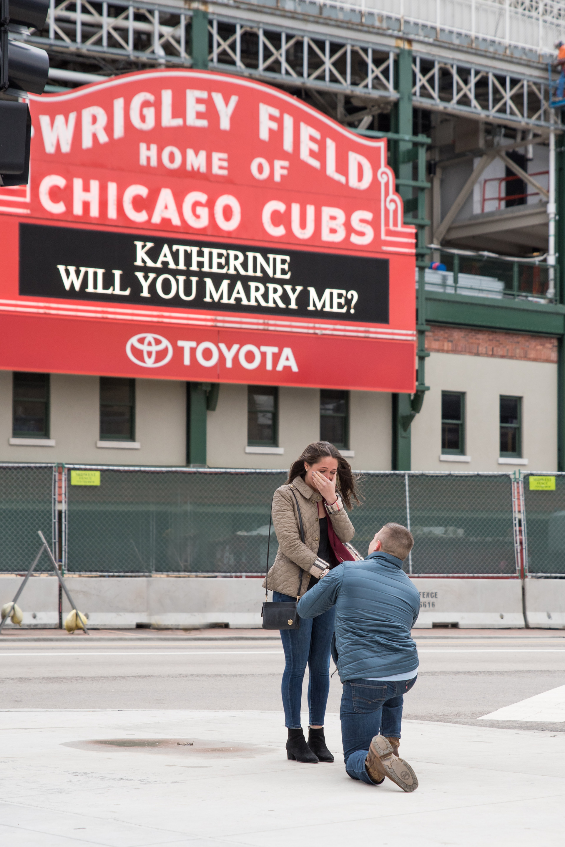 Jessica M. Photography Engagement Photographer Chicago IL Wrigley Field