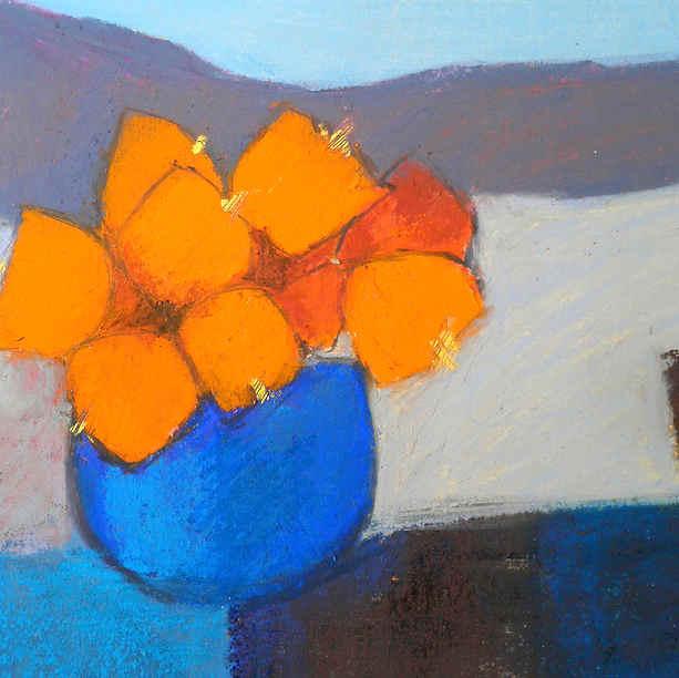 Blue Pot of Orange