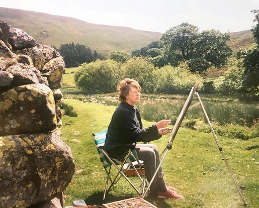 Jill sketching outdoors