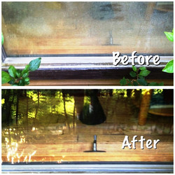 Ketchum Window Cleaning - before-after 1