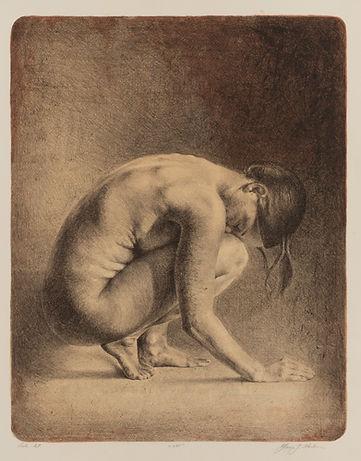 Solitude, litografi av Yvonne Jeanette Karlsen