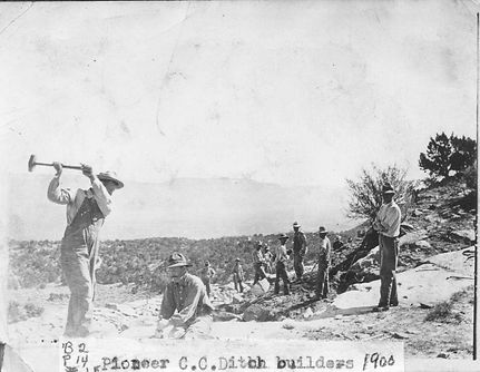 Circa 1900 Ditch Workers