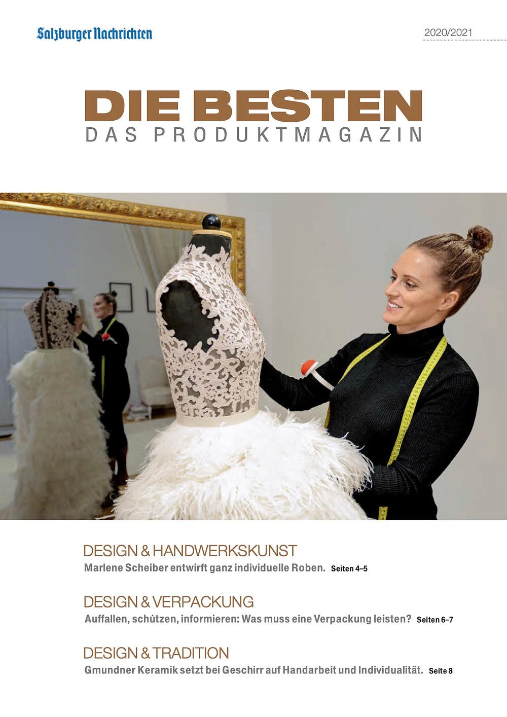 """Designerin Marlene Scheiber mit der Siegerkreation des Austrian Haute Couture Award 2013 """"Black Desire"""""""