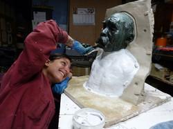 Moulage buste Rodin