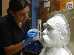 Moulage élastomère buste de Rodin