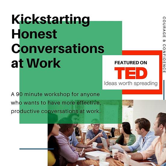 Honest Conversations Workshop, March 5, 11:30 AM EST