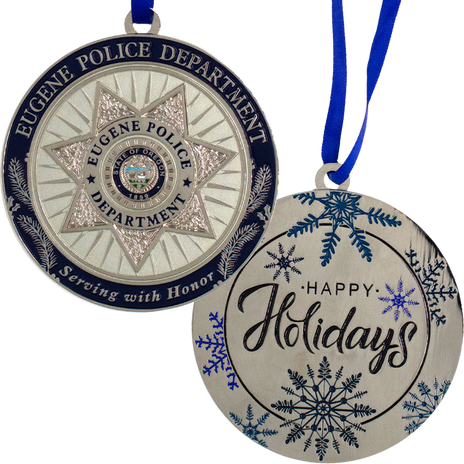 PTE-7125 Eugene PD OR Christmas Ornament