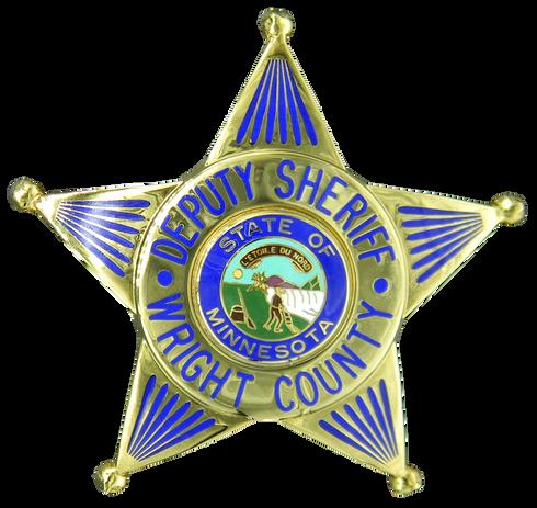 Deputy Sheriff Wright County MN Badge.pn