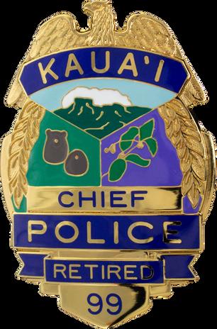 PTE-6819 Kaua'i PD HI Retirement Badge 9