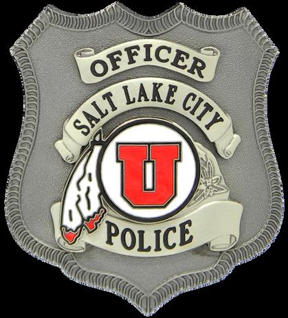 University of Utah SLCPD Badge dark.png