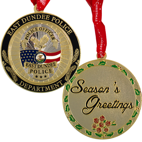 PTE-6846 East Dundee PD IL Christmas Orn