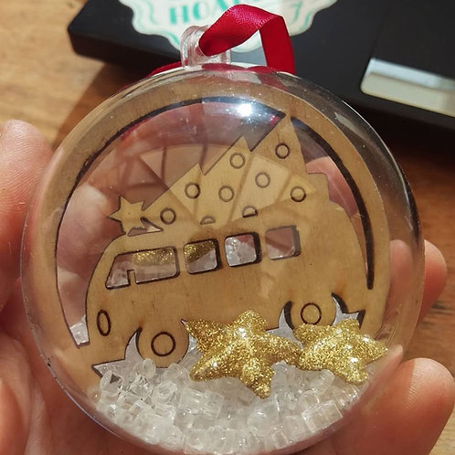 Camper Christmas bauble