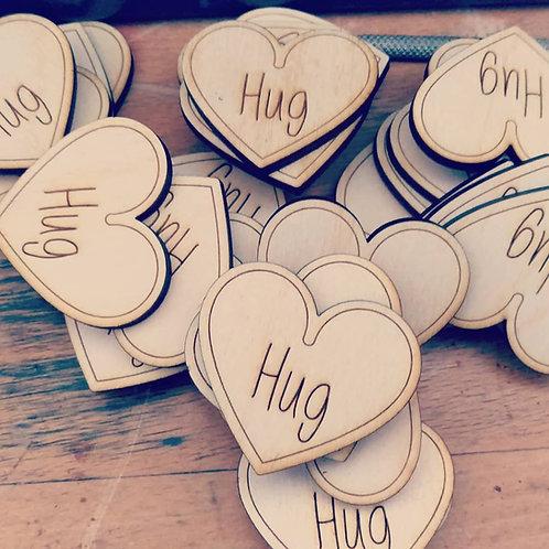 Heart pocket hugs (x10)