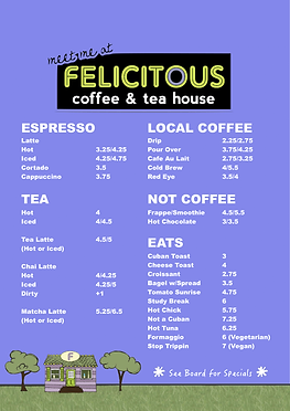 Latte, Espresso, Coffee, Tea, Drinks, Beverages, Menu, Food, Sandwich, Panini, Vegan, Vegetarian