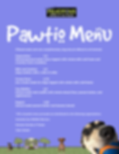 Dog friendly cafe, dog menu, outdoor seating