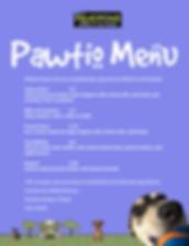Dog friendly cafe, dog menu, outdoor seating