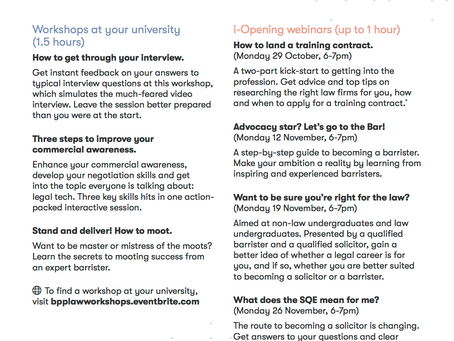 BPP's events for the year ahead