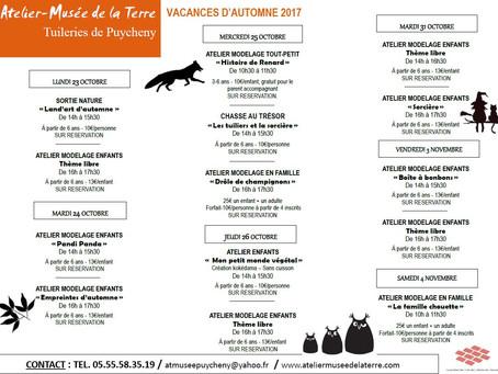 PROGRAMME D'ANIMATIONS - Vacances d'automne 2017