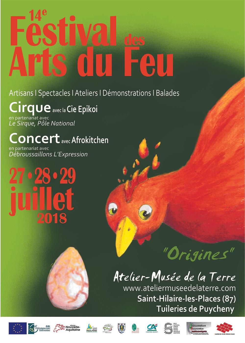 Festival arts du feu en Limousin