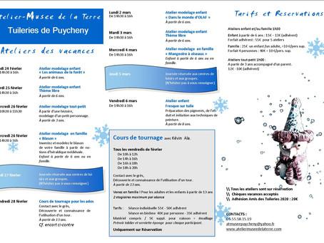 Programme d'animations - Vacances d'hiver