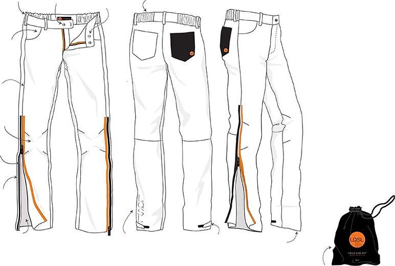 onze broeken zijn voorzien van vele funtionele details
