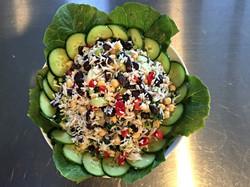 summer rice and bean salad