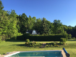 summer view from the main house