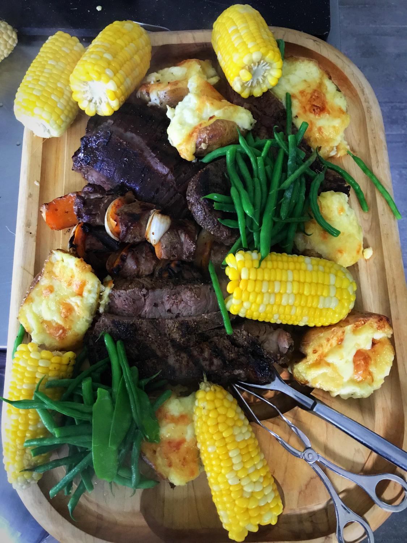 meat platter & garden veg
