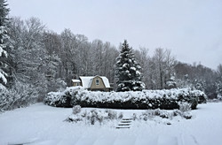 winter view from main house