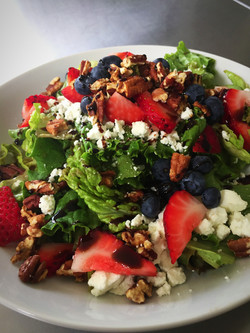 goat cheese, berry & pecan salad