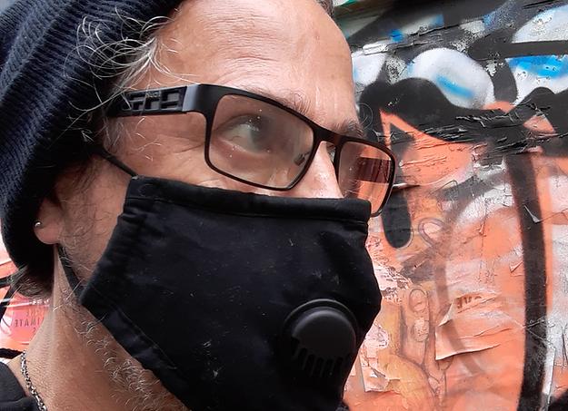 Mask and graffiti.heic