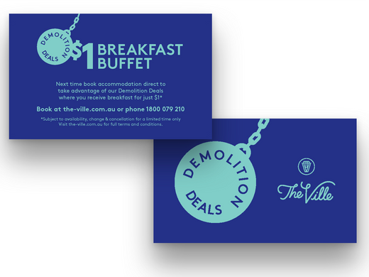 Business Card Flyer for Hotel Guests