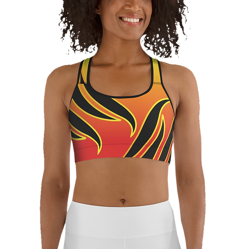 Sports Top - Gradient pattern with dual flames