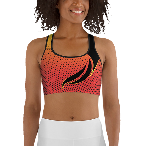 Sports Top - Gradient pattern with a single flame