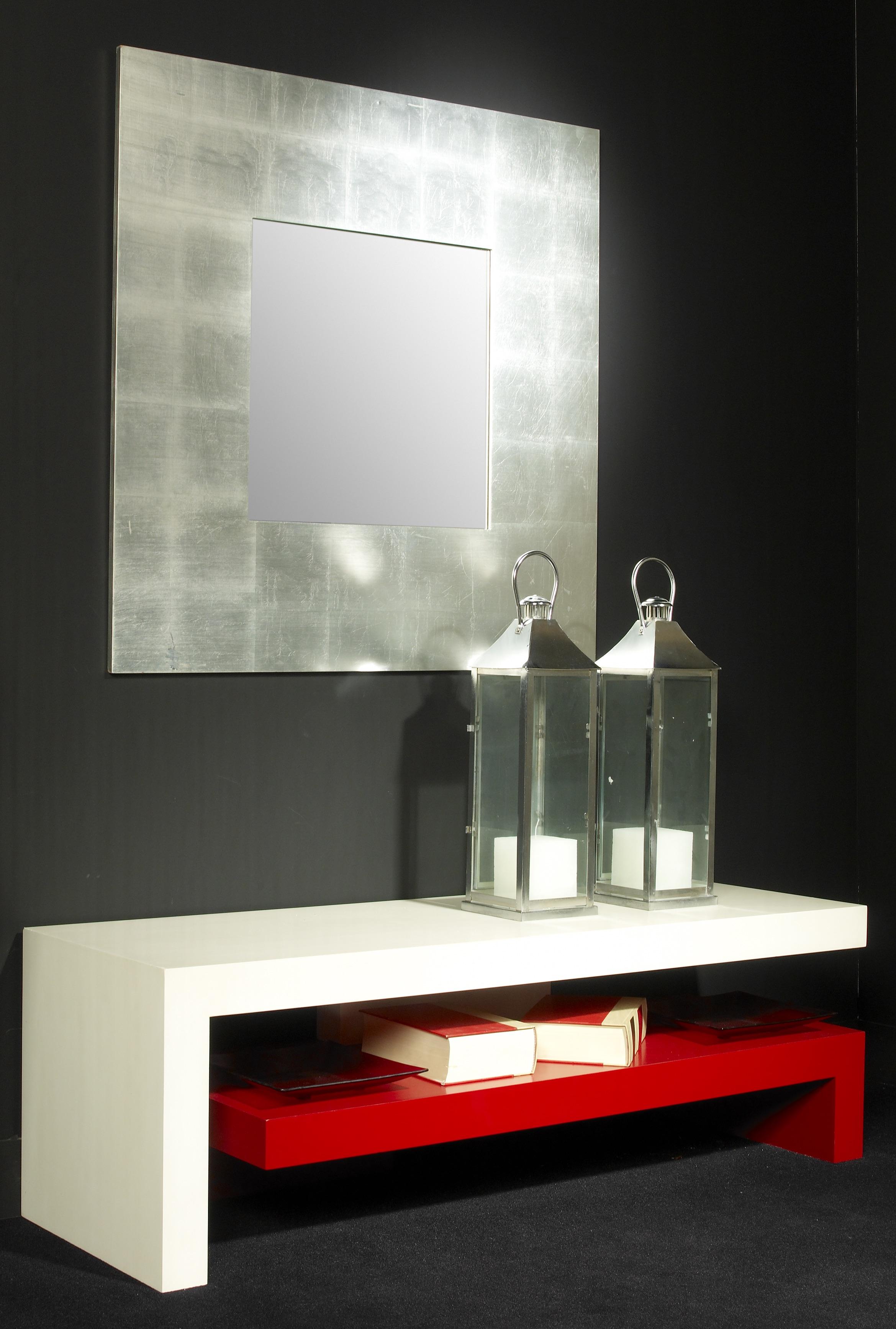 Mueble TV 86 blanco-rojo