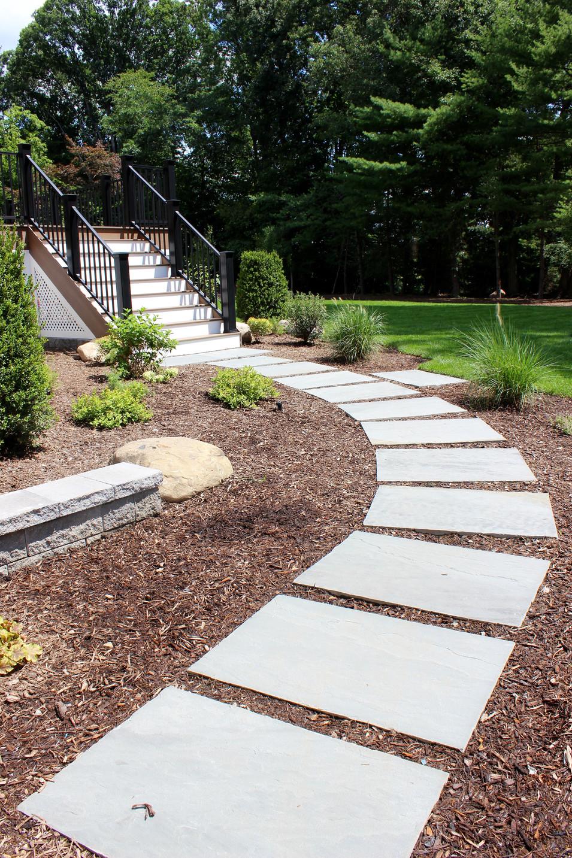 Bluestone Stepper Walkway