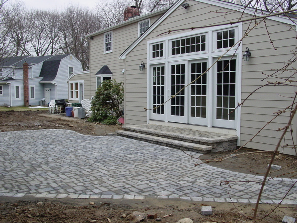 Paver Patio with Matching Landing