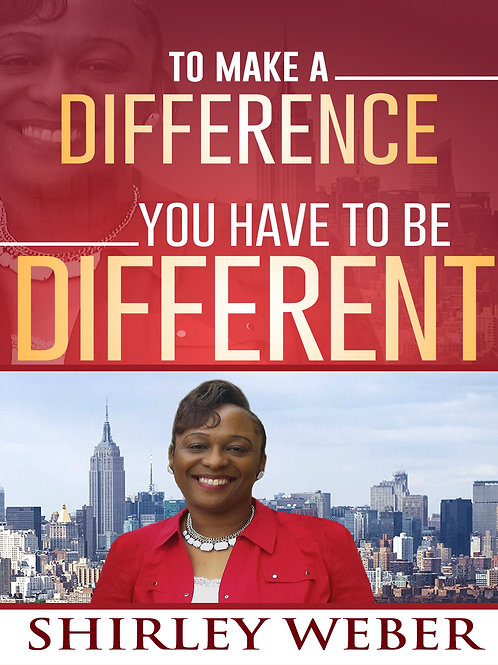 To Make A Difference You Have To Be Different Book